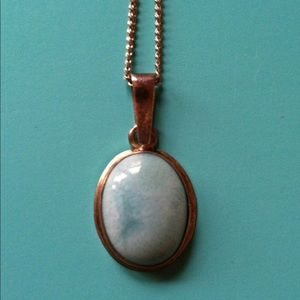 Jewelry - Vintage Boho Turquoise Blue Cabochon Necklace